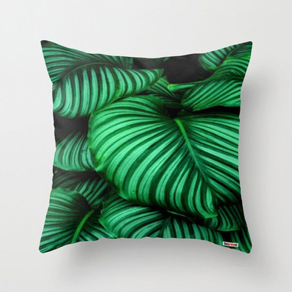 Tropical Throw Pillows For Couch : Tropical Decorative throw pillow cover Green pillow cover
