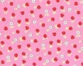 Shabby Pretty Pink Sweet Apples 30970 Fabric by Lecien 2014 FLOWER SUGAR 1 Yard