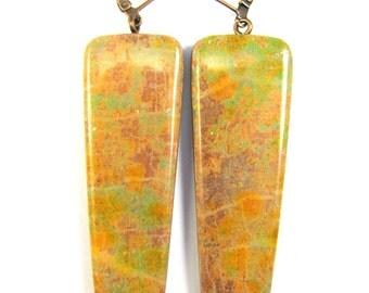 Polymer Clay Earrings -  Southwestern Landscapes Series - Copper Flash Earrings