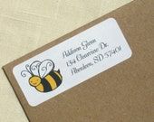 Bee Return Address Labels - 90 Labels - Bumble Bee