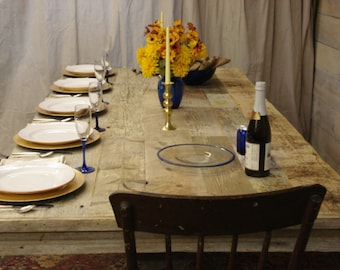 """20% OFF SALE Driftwood Trestle Table (96"""" x 27"""" x 33""""H) (Custom Request new pictures soon)"""