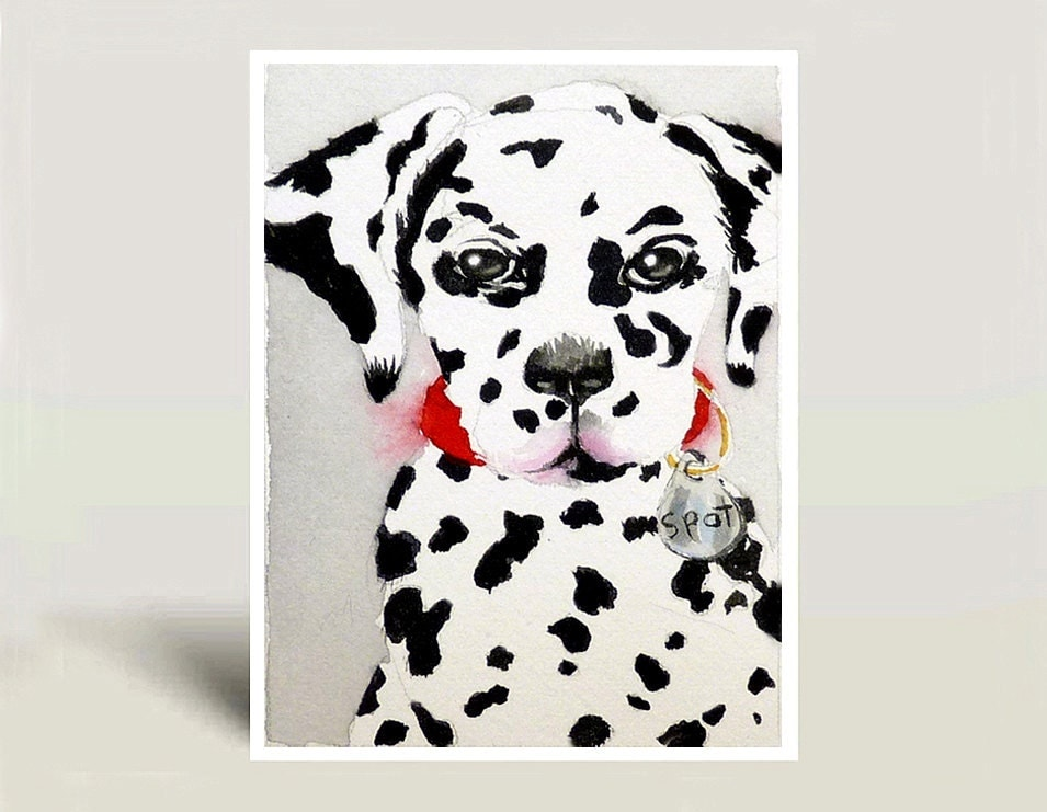 Dalmatian Dog Names Dalmatian Dog Art Watercolor