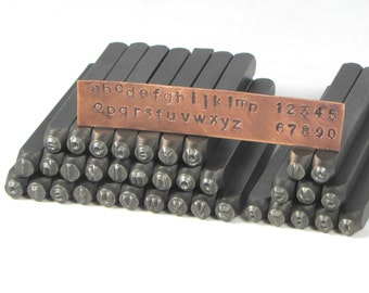 3mm Lower Case Arial with Number Precision Quality Stamping Set