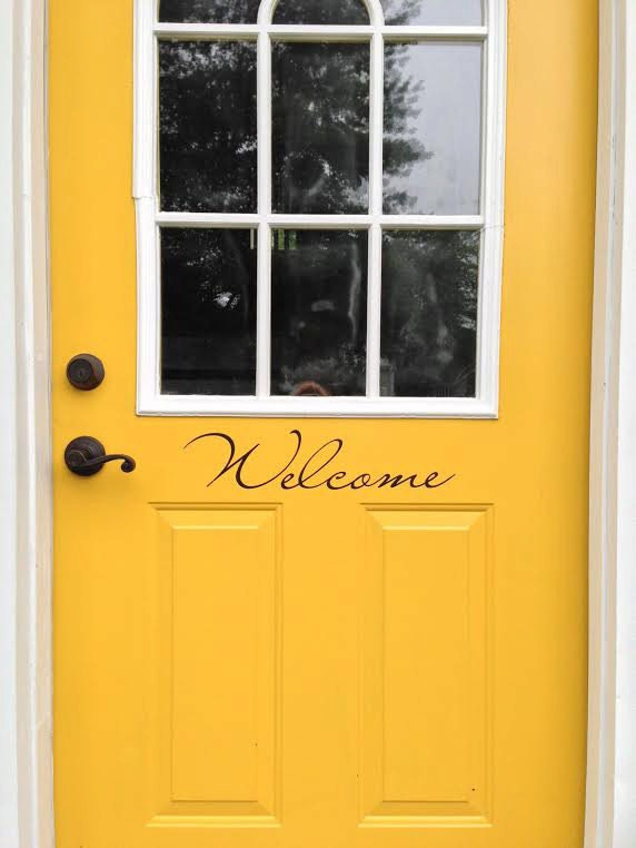 Door Decal Welcome For Front Door Or Back By LeenTheGraphicsQueen