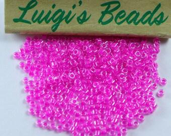 11/0 Miyuki Delica Glass Seed Beads DB2037- Luminous Hot Magenta 5g