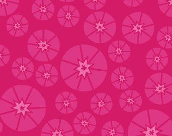 1/2 yard - Sew Yummy Topper Magenta Pink fabric, Organic Cotton, Cloud9 Fabrics