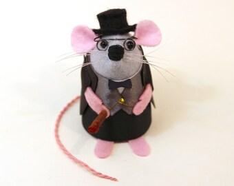 Winston Churchill Mouse Ornament Artisan British politician felt rat mice hamster cute adorable mouse war English England Great Britain