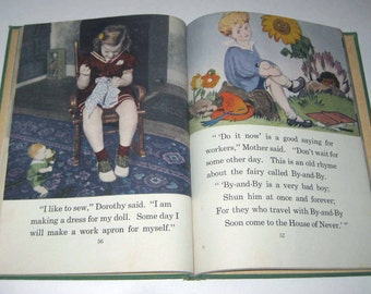 Healthy and Happy II Vintage 1940s Children's School Reader or Health Textbook
