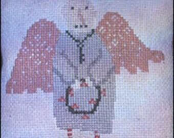 Snow Angel - cross stitch paper PATTERN - from Notforgotten Farm