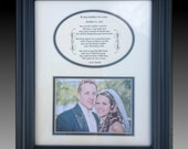 Personalized To My Mother-In-Law on Wedding  from bride Framed favor gift