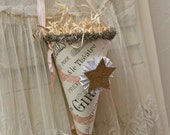 Paper Cone gift container, party decor, decorative party keepsake.