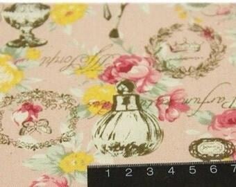 Elegant Perfume Bottles on Pink