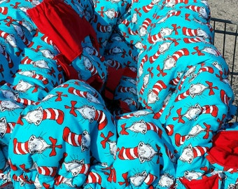 Shopping Cart Cover - Cat in the Hat - Reversible - Fits Restaurant High Chairs, Park Swings and ALL Carts