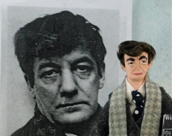 Sherwood Anderson Character Art Doll Author and Writer Miniature
