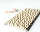 Gold Checkbook Cover, Gift for Her, Womens Check Book Holder