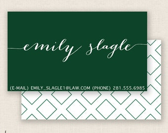 DIAMONDS & EMERALDS - Double Sided - DIY Printable Business Card Template