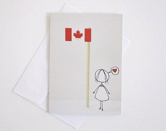 Oh CANADA - Greeting Card - Paper diorama