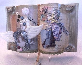 Open book altered art