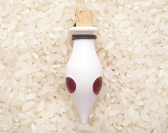 EMBLEM Lampworked Borosilicate Glass Bottle Pendant