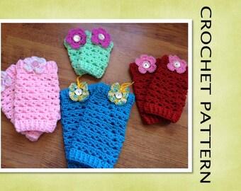 PDF Crochet Pattern - DROPLET LEGWARMERS Crochet Pattern- 6 Sizes