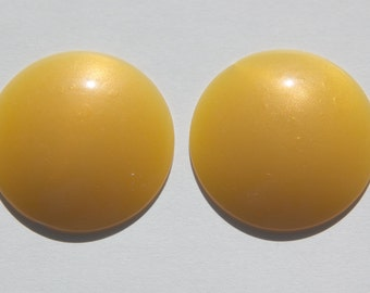 Vintage Golden Yellow Iridescent  Acrylic Cabochons 30mm (4) cab848B