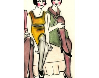 Fashion illustration - November Wallflowers - 4 for 3 sale