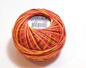 Tatting Thread, Lizbeth Cotton Crochet Thread, Falling Leaves, Color number 100, Orange Thread, Choose a Size 10 or 20