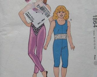 Kwik Sew Girls Unitard Leotard Pattern 1864