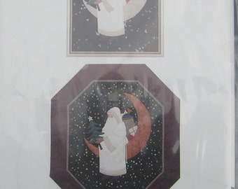 Santa On The Moon Applique Wall Quilt Pattern