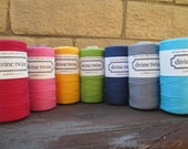 ON SALE Divine Twine Full Spool in SOLID Colors Choose from 7 Awesome Colors. Crafting. Gift Wrap.