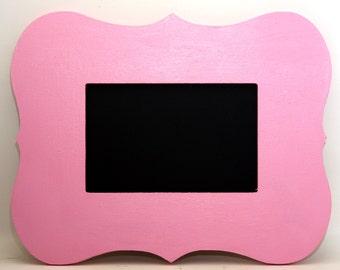 4x6 Chalkboard Frame Pink Painted Frame  Wedding or Photo Prop