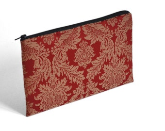 SALE! Red fabric case for MacBook 12, cover, sleeve, upholstery fabric zipper bag