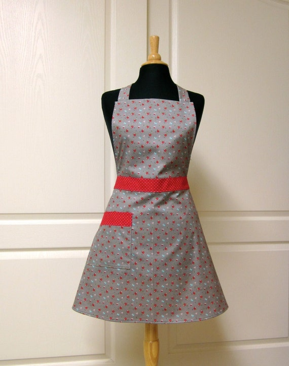 Petite Flower Full Apron Womens Retro Kitchen Aprons by