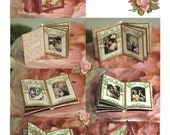Romantic Rose Photo Album Project, French Country miniature valentine  Digital Download Printable  DH014