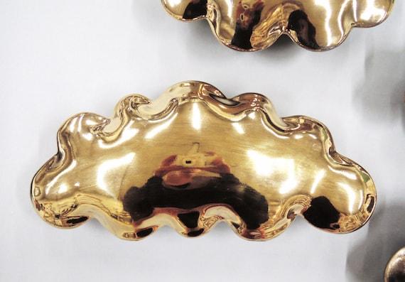Golden cloud - large  porcelain wall  cloud pillow