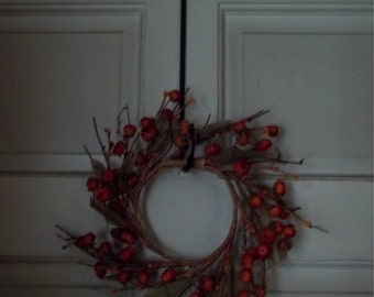 Holiday Wreath Hooks Over the Door Hanger Wrought iron Hand Forged in America