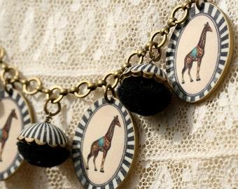 Circus Giraffe Necklace - Giraffe Necklace - Circus Jewelry - Graffe Jewelry - Circus Necklace - Animal Jewelry - Zoo Necklace - Circus