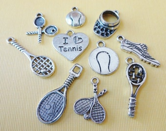 10 Tennis Themed Charms