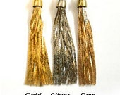 DESTASH - gold plated tassels for jewelry - large quantities available
