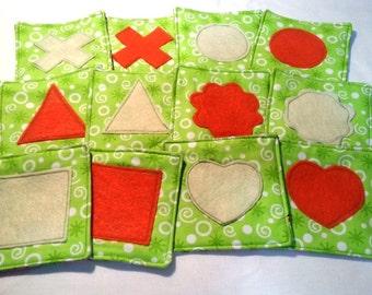 Soft Fabric Shape Memory Game for Preschool Children