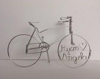 CRUISING TOGETHER: Personalized Cruiser Bike Wedding Cake Topper