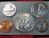 vintage 1964 United States Mint Coin set silver FREE SHIPPING Pennsylvania rare Forgotten Kennedy