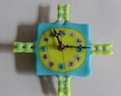 SALE! - fused glass clock