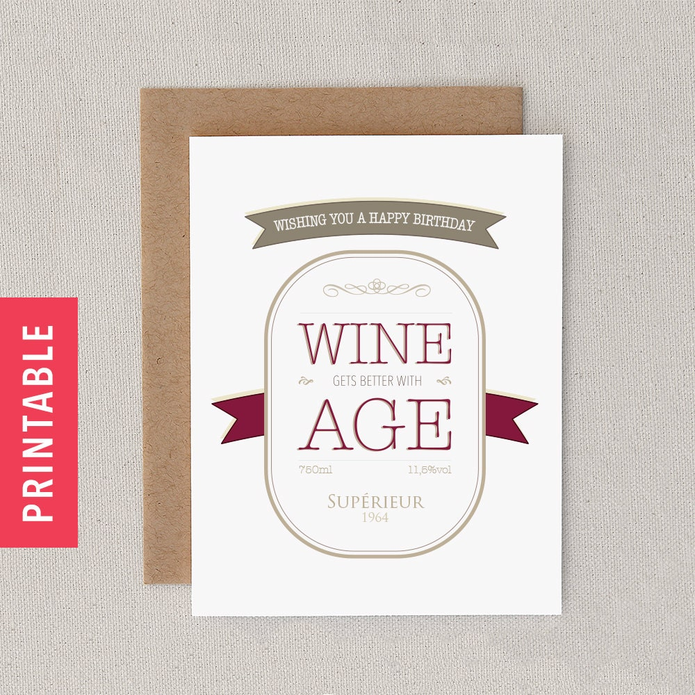 Funny PRINTABLE Customizable Birthday Card. Print At By FlytrapOnE