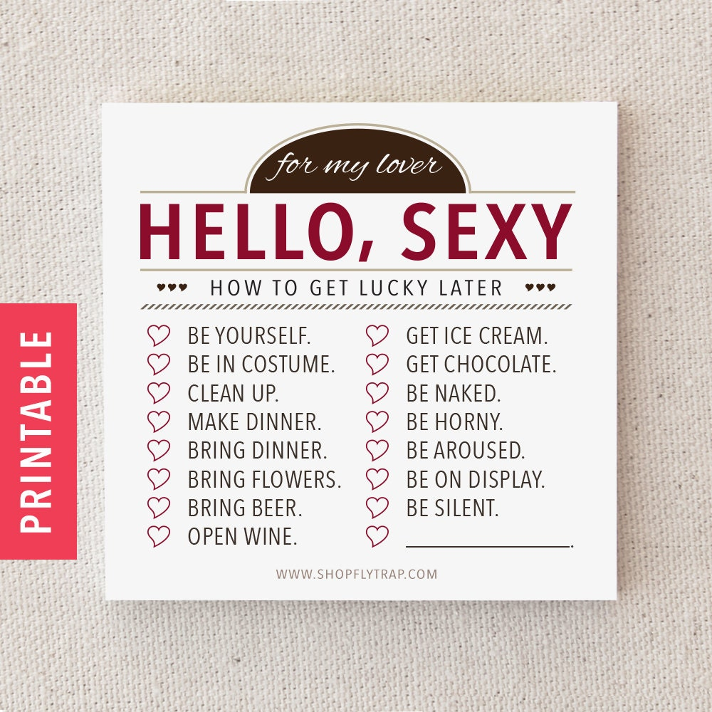 Funny Naughty Printable Sticky Notes. Love By FlytrapOnE