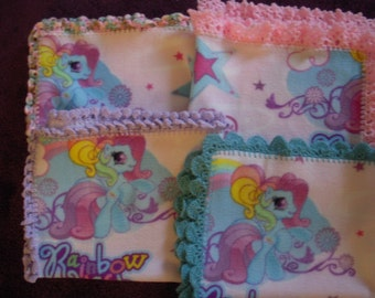 My Little Pony  Mini-Fleece Blanket with Crochet Edge
