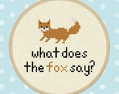 What does the fox say. Fox Cross Stitch Pattern PDF File