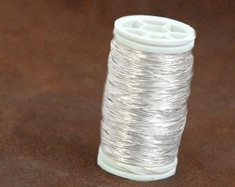 Fine Silver 999  wire , dead soft , 28g , 20 gram , crochet supplies,  80ft 26 yard