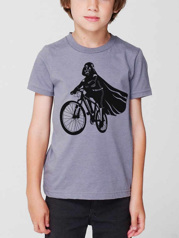 Darth Vader Is Riding It - Toddler / Youth American Apparel Kids T-shirt ( Star Wars kids tshirt )