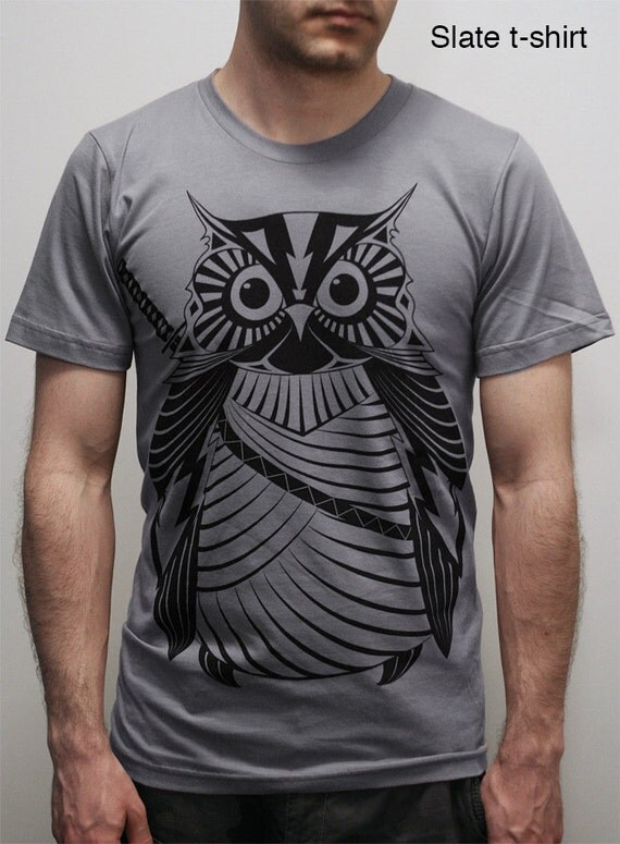 Samurai Owl -  Men's/Unisex T-shirt, Owl shirt, gift for him, nature t-shirt, father dad gift, bird shirt
